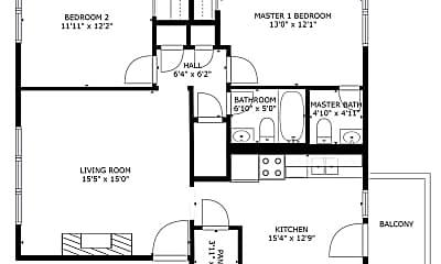 Bedroom, 9310 E Girard Ave, 2