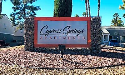 Community Signage, Cypress Springs, 2
