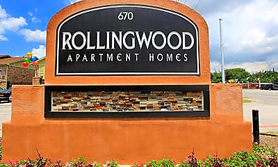 Community Signage, Rolling Wood Apartments, 1