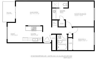 Living Room, 3730 Moorpark Ave, 1