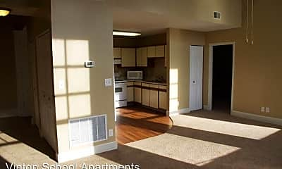 Living Room, Vinton School Apartments 2120 Deer Park Blvd, 2