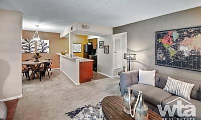 Living Room, 7201 Hart Ln, 1
