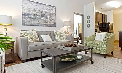Living Room, Watercourse Apartments, 1