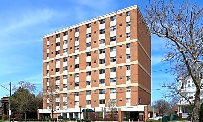 Building, New Clifton Plaza Apartments, 0
