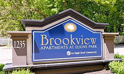Community Signage, Brookview Elkins Park, 2