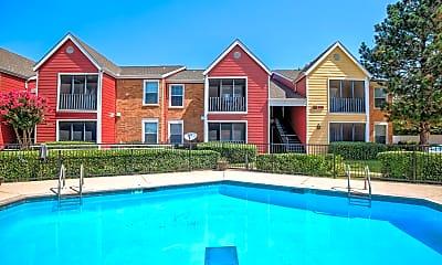 Pool, Post Oak Apartments, 0