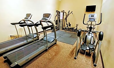 Fitness Weight Room, Hamlet Apartments, 2