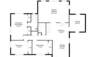 Bedroom, 4322 Clarinda St, 2