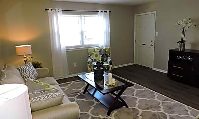 Living Room, Orchard Apartments, 1