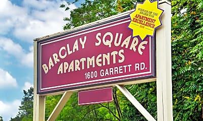 Community Signage, Barclay Square, 1