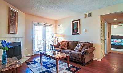Living Room, Post Oak Apartments, 1