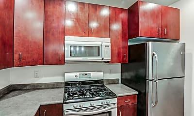 Kitchen, Axis at 739 Apartments, 1