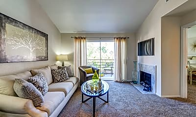Living Room, Palm Villas at Whitney Ranch, 0