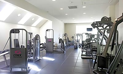 Fitness Weight Room, Portage Pointe Apartments, 2