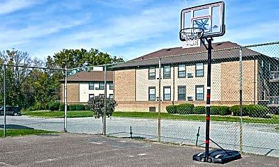 Basketball Court, Princeton Hill Apartments, 1