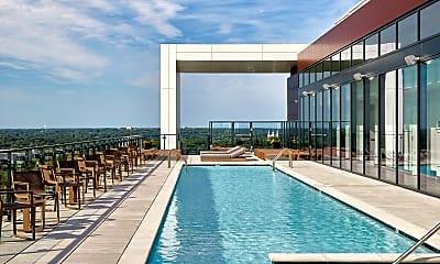 Pool, 7770 Norfolk Apartments, 0