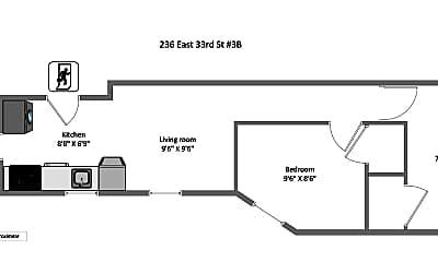 236 E 33rd St 3B, 2