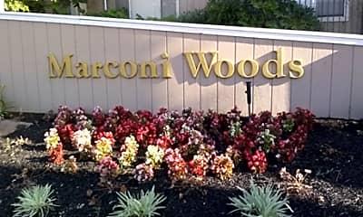 Community Signage, Marconi Woods Apartments, 1