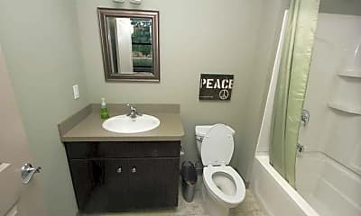 Bathroom, Erie Terminal Place Apartments, 2