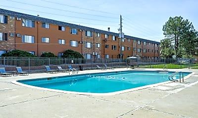 Pool, Vista Park Apartments, 0