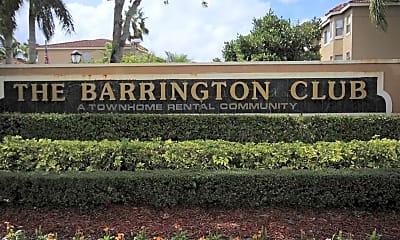 Community Signage, The Barrington Club, 2
