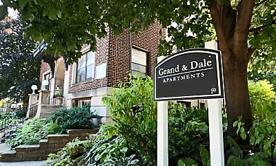 Community Signage, Grand and Dale Apartments, 2