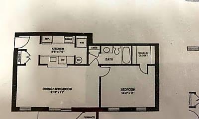 1 bedroom floor plan.jpg, 800 Thomas Ct Apt 1, 2
