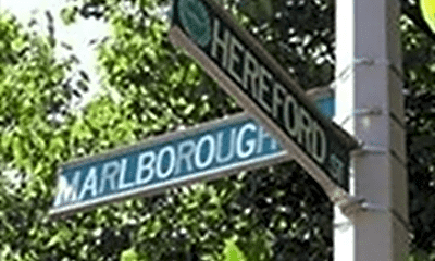 Community Signage, 20 Hereford St, 2