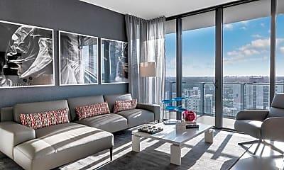 Living Room, 88 SW 7th St 2910, 0