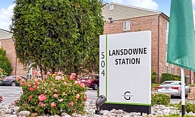 Community Signage, Lansdowne Station Apartments, 1