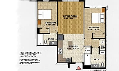 Bedroom, 1029 Wertland St, 2