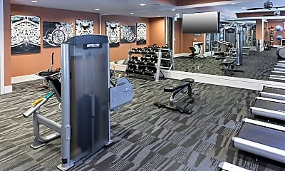 Fitness Weight Room, Memorial West Apartments, 2