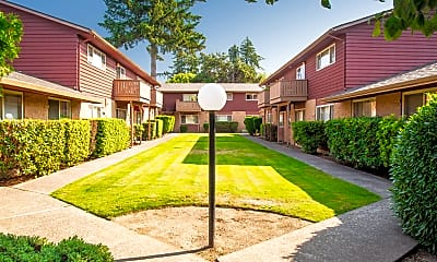 Courtyard, Townhouse Apartments, 0