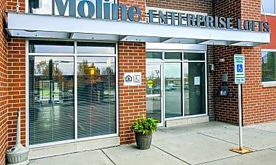 Community Signage, Moline Enterprise Lofts, 2