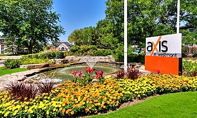 Community Signage, Axis at Westmont, 2