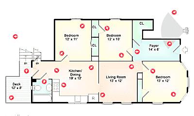 Bedroom, 212 River St, 2