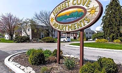 Community Signage, Sunset Cove Apartments, 0