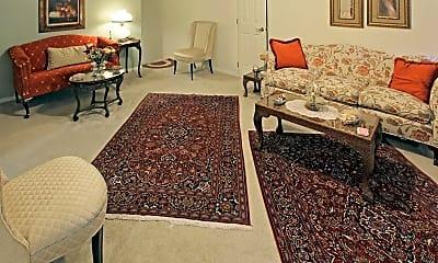 Living Room, Greenway Apartments, 1