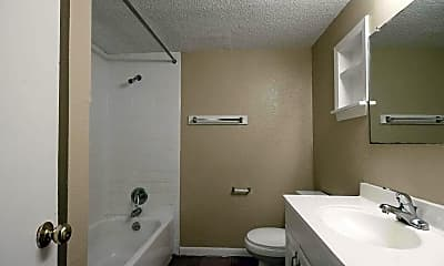 Bathroom, Town Square Apartments, 2
