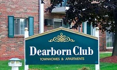 Community Signage, Dearborn Club, 1
