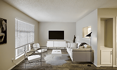 Living Room, Mueller Place Apartments, 0