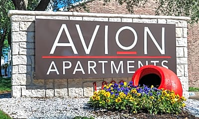Community Signage, Avion, 2