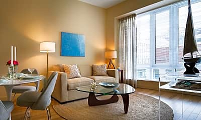 Living Room, One Back Bay Apartments, 1