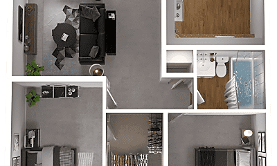 Bedroom, 9803 W Girton Dr, 2