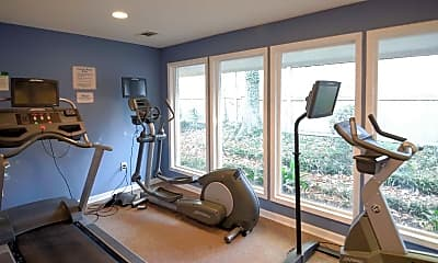 Fitness Weight Room, Mendenhall Gardens, 1