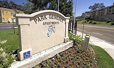 Community Signage, Park Genesee, 2