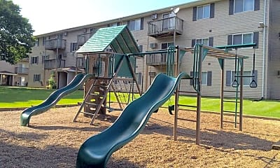 Playground, Woodside Park Apartments, 2