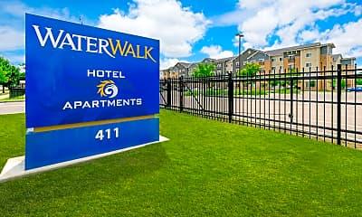 Community Signage, WaterWalk Wichita, 1