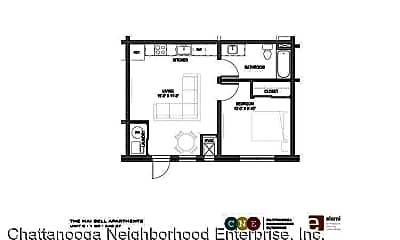Kitchen, 1728 Bailey Ave, 2