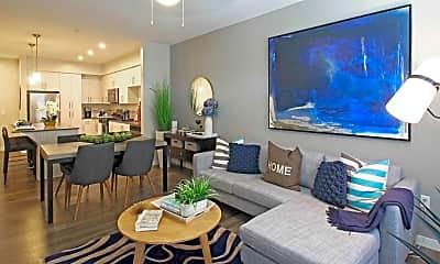 Living Room, Vistara Apartments, 1